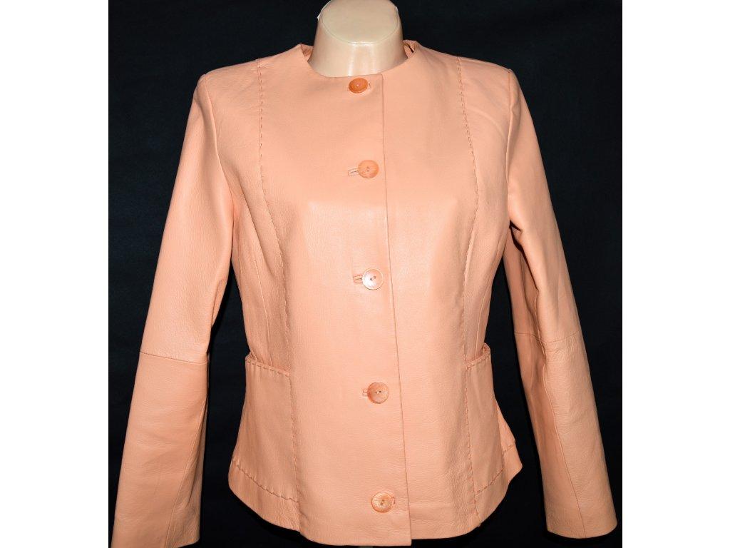 KOŽENÁ dámská meruňková bunda BARISAL 40