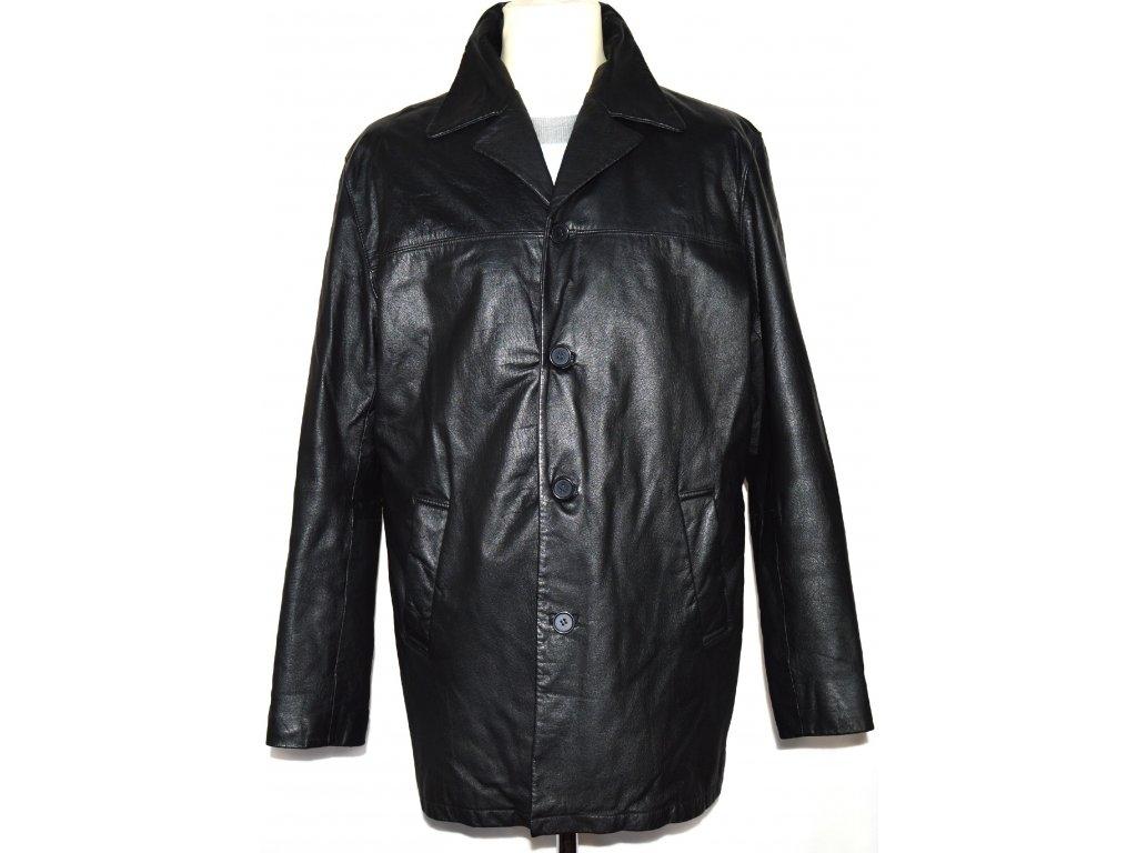 KOŽENÁ pánská černá zateplená měkká bunda CERO L