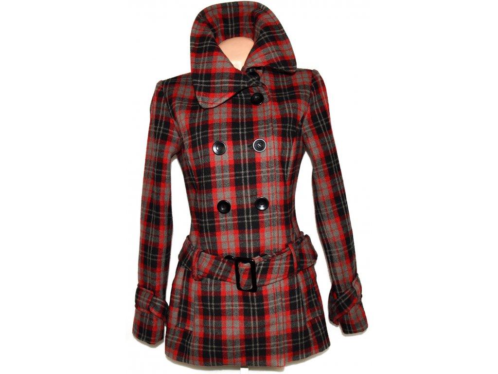 Dámský červený kabát s páskem CLOCKHOUSE