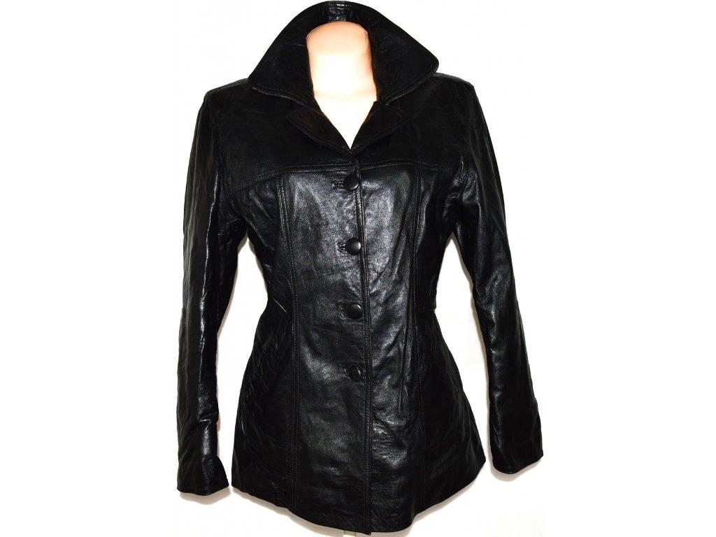 KOŽENÝ dámský měkký černý kabát vel. L