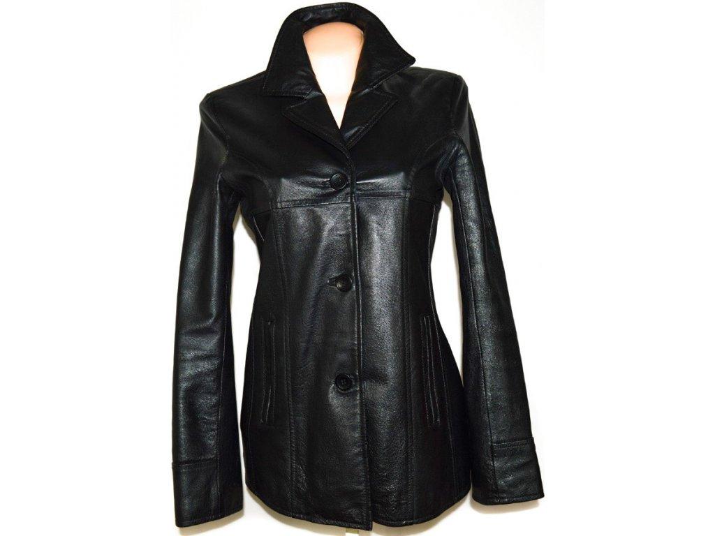 KOŽENÝ dámský černý kabát M, L, XL 4