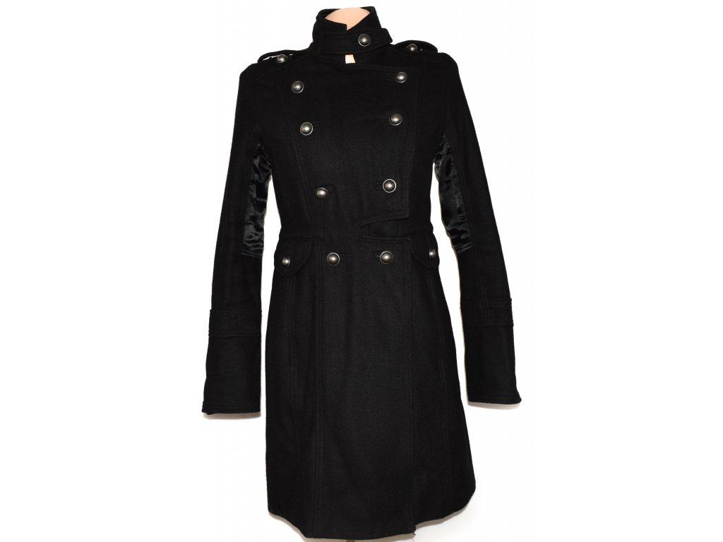 4c7e42699d Vlněný dámský černý zateplený kabát River Island 10/36 - Coat-Master.cz