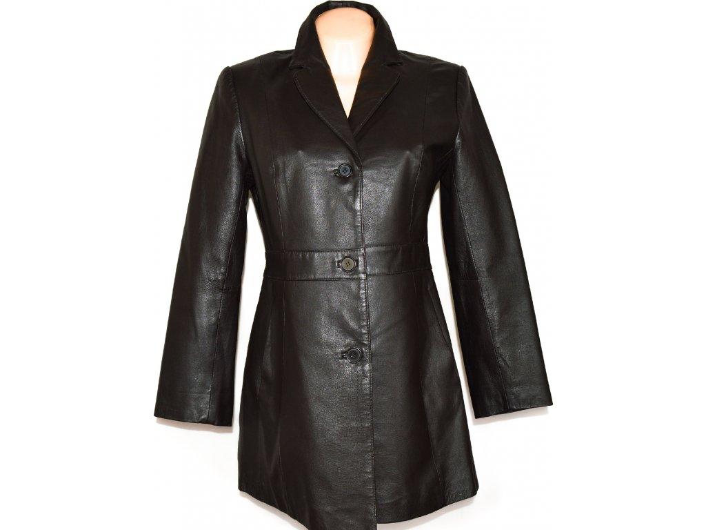 KOŽENÝ dámský hnědý kabát CERO L