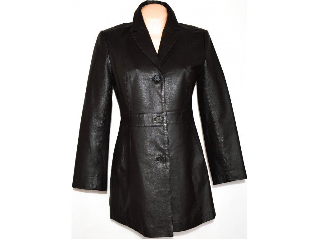 KOŽENÝ dámský hnědý kabát CERO vel. L