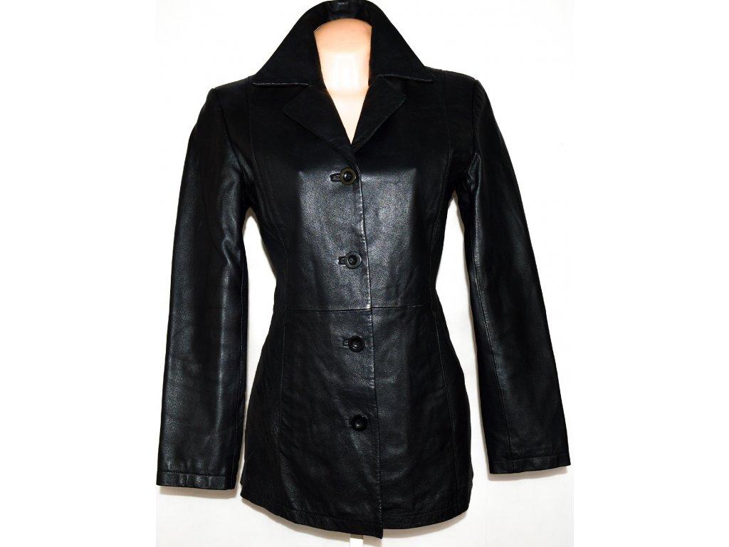 KOŽENÝ dámský černý kabát Woodworths M/L
