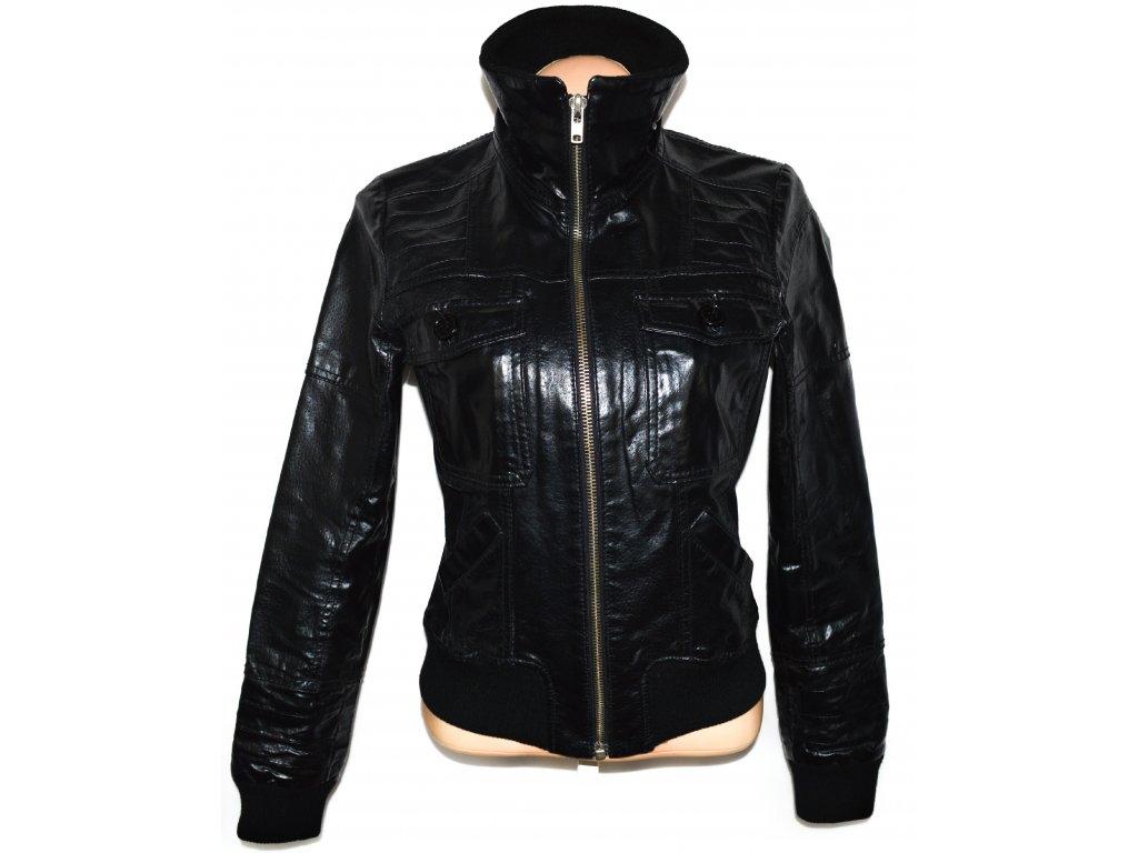 KOŽENÁ dámská černá bunda na zip ONLY S