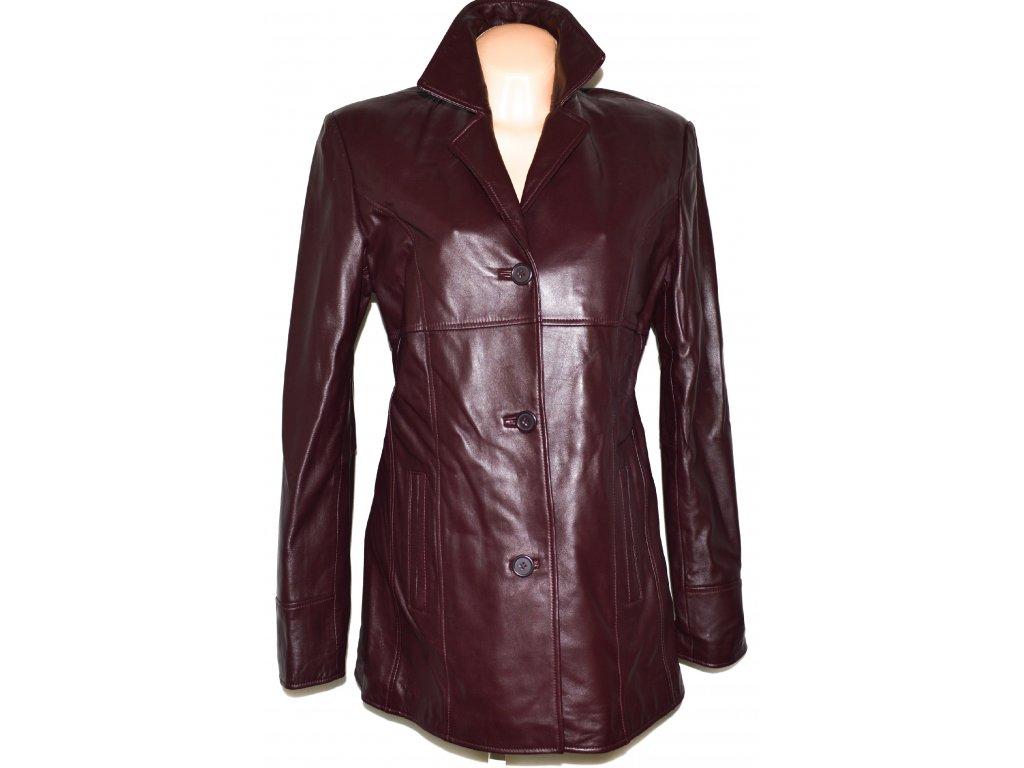 KOŽENÝ dámský měkký hnědý  vínový kabát K.K.M. L XL - Coat-Master.cz 9979c1123b4