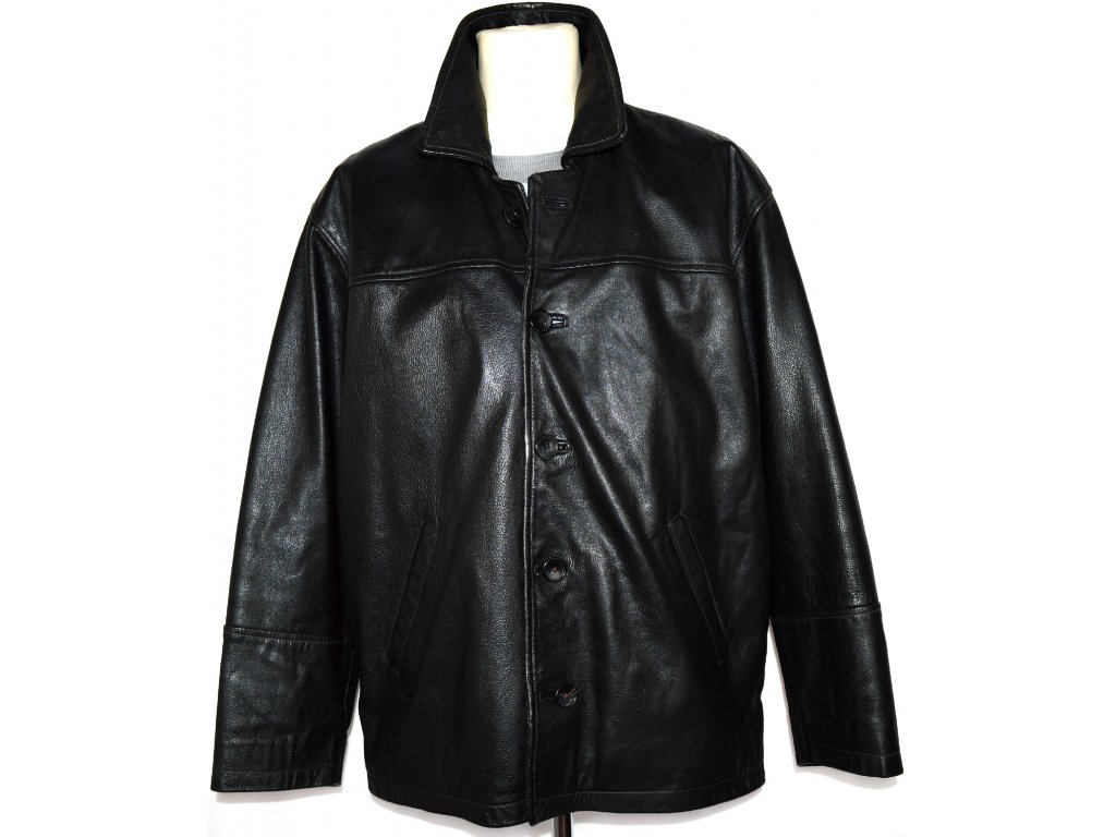 KOŽENÁ pánská černá bunda XXL