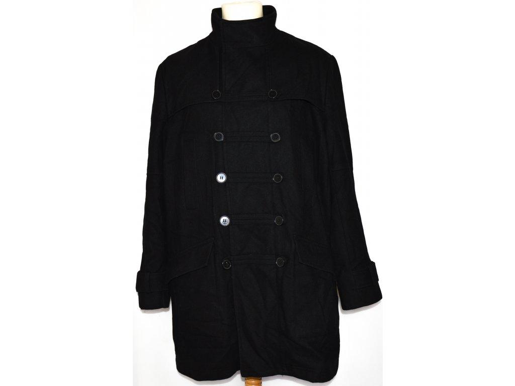 Vlněný pánský černý kabát DEHAVILLAND London L