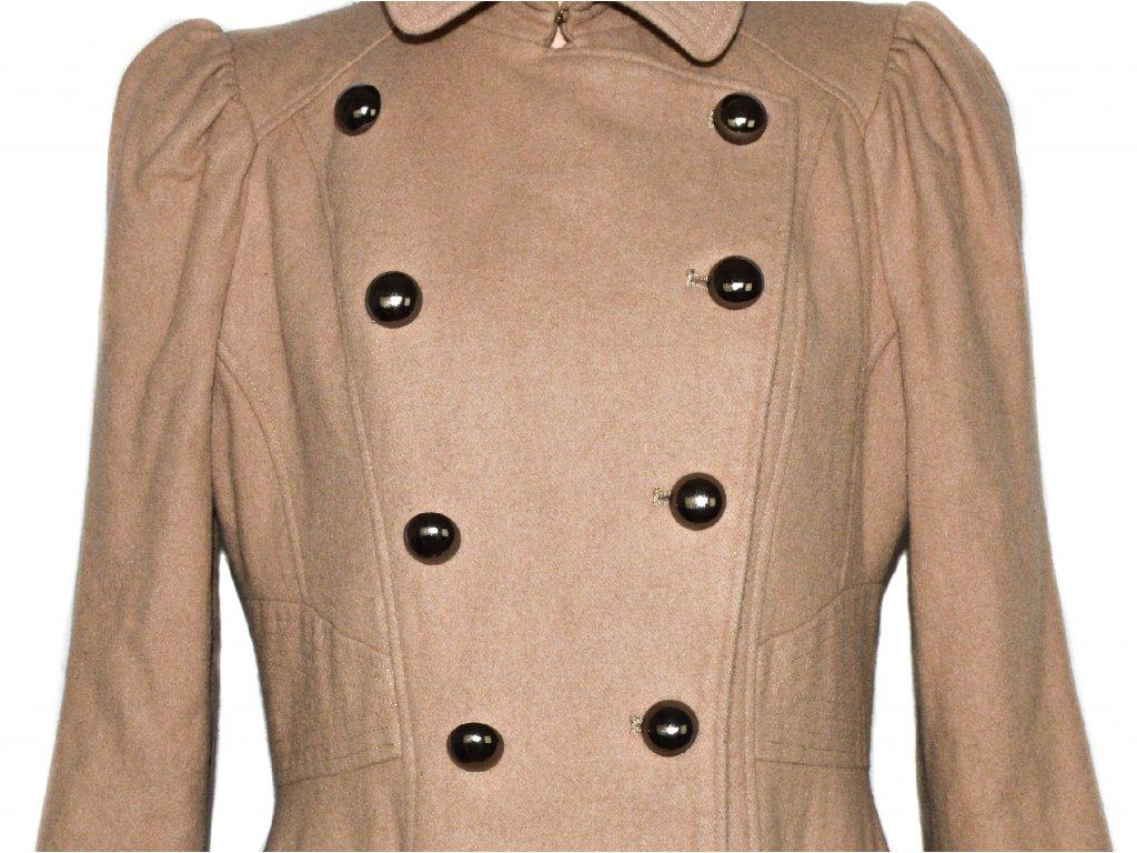 Vlněný dámský béžový kabát NEXT XXL   XXXL - Coat-Master.cz b5d90a02af