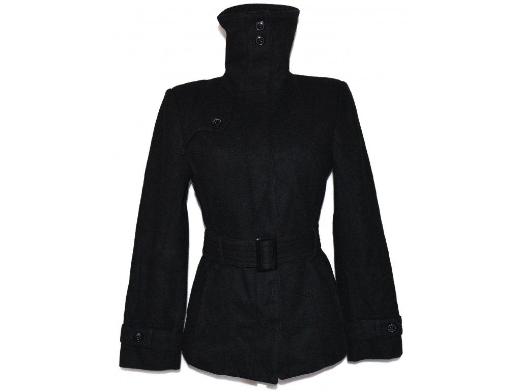 Vlněný dámský černý kabát s páskem La Redoute L - Coat-Master.cz ca1ef5fd16