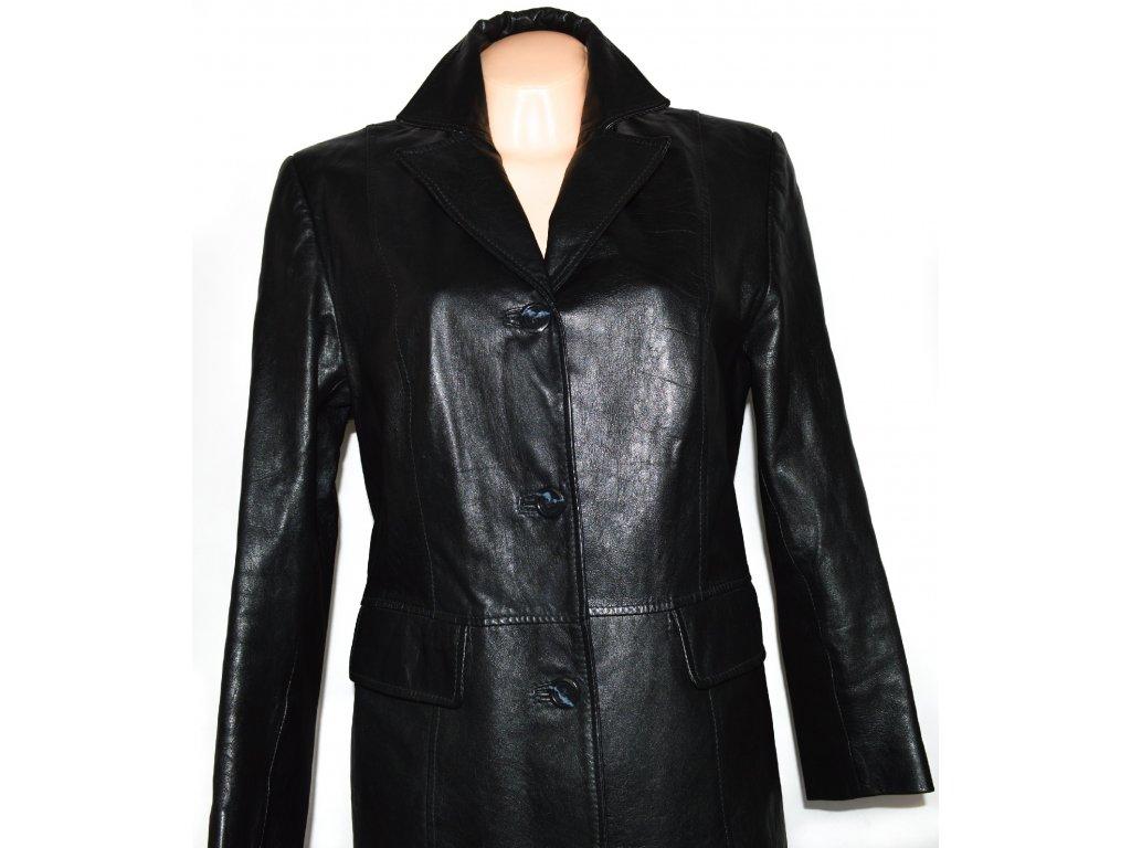 0661c23ec KOŽENÝ dámský černý měkký kabát CERO L - Coat-Master.cz