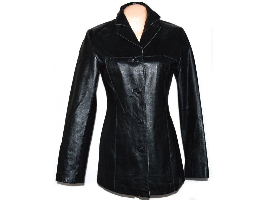 KOŽENÝ dámský černý měkký kabát Different M - Coat-Master.cz d09dd3a6200
