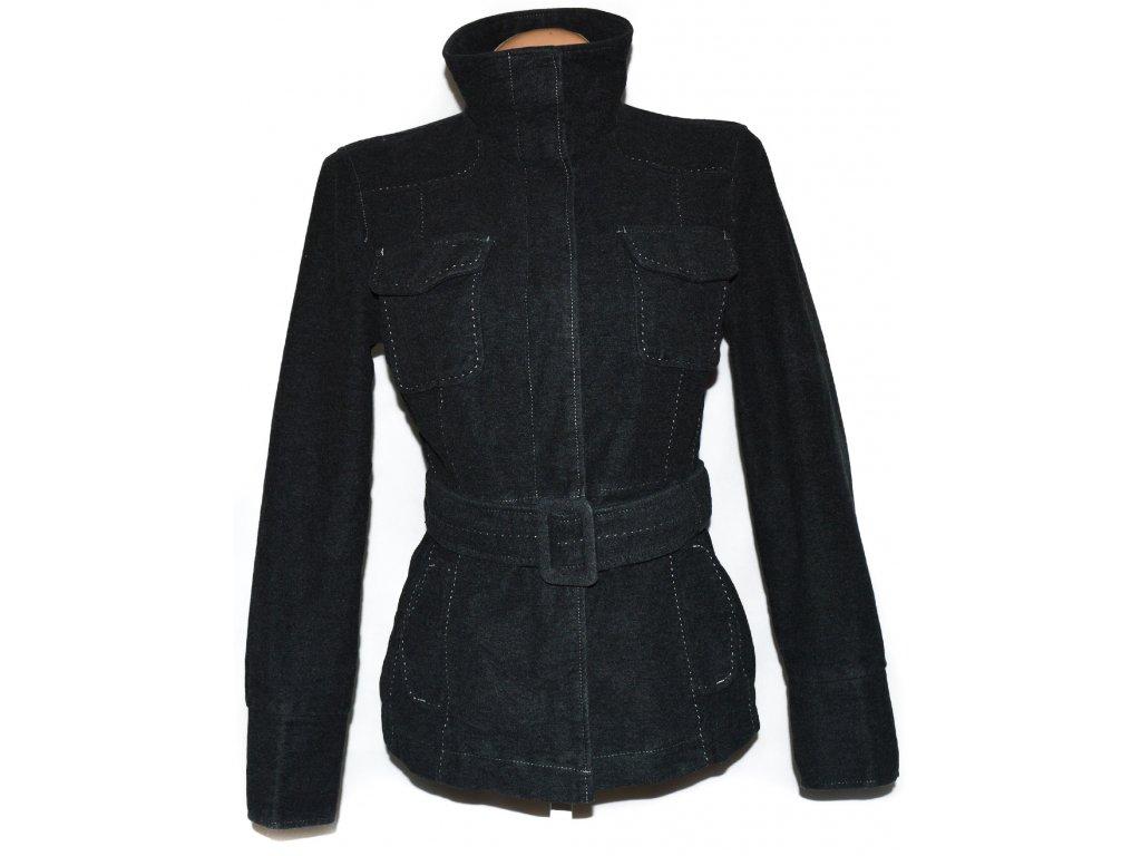 Bavlněný dámský šedý kabát s páskem NEXT 42 - Coat-Master.cz ded7bf47bd