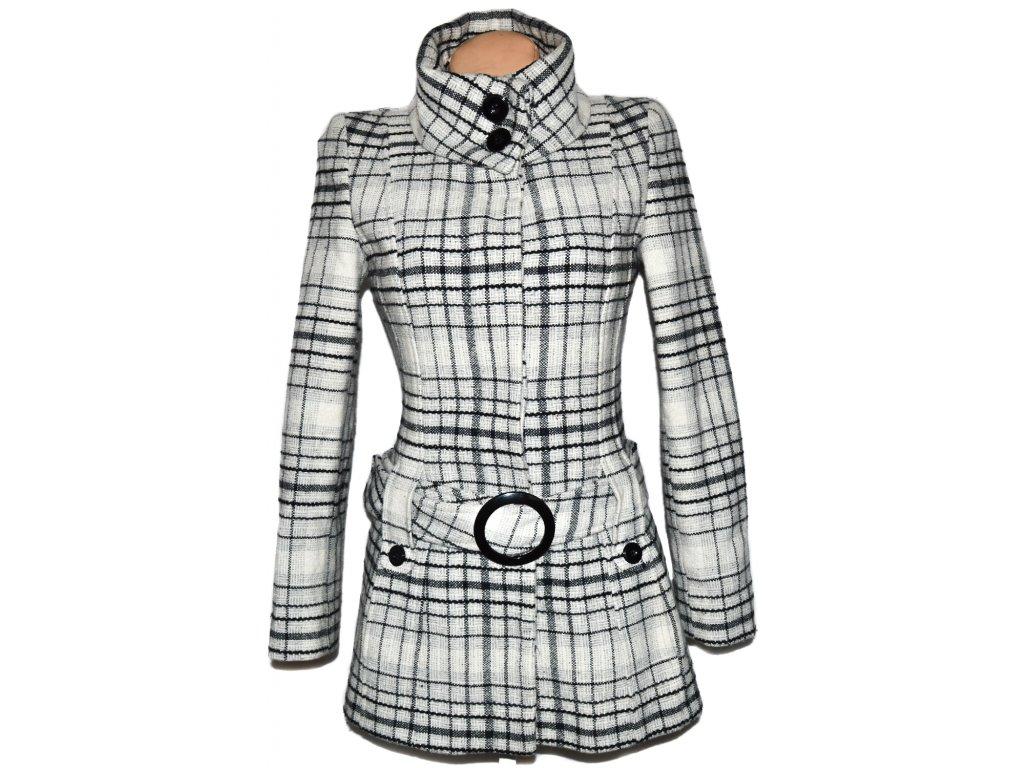 Vlněný dámský šedý kabát s páskem Jane Norman S - Coat-Master.cz e02d4562502