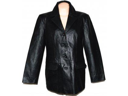 KOŽENÉ dámské černé měkké sako C&A XL