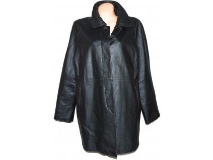 KOŽENÝ dámský černý měkký kabát CERO L, XL, XXL