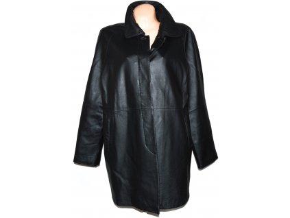 KOŽENÝ dámský černý měkký kabát CERO XL, XXL
