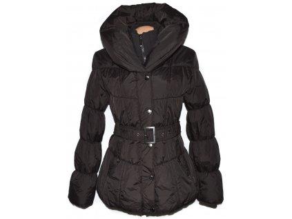 Dámský hnědý šusťákový kabát s páskem GoodFriends XL 6
