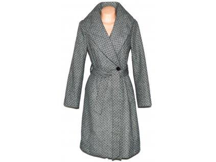 Dámský černobílý kabát s límcem a páskem ORSAY L 6