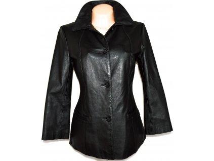 KOŽENÝ dámský měkký černý kabát WILLIAM & DELVIN M