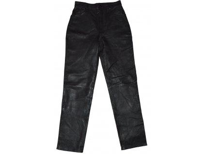 KOŽENÉ dámské černé měkké kalhoty