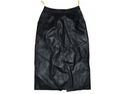 KOŽENÁ dámská černá měkká sukně s cedulkou 4