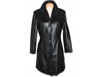 KOŽENÝ dámský černý měkký kabát William & Delvin M, XL