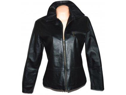KOŽENÁ dámská černá měkká bunda na zip Woolpecher L