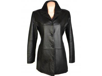 KOŽENÝ dámský černý měkký kabát William & Delvin XXL