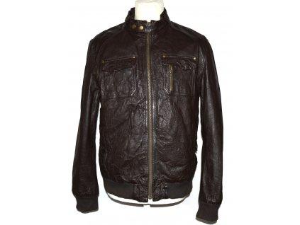 Pánská hnědá bunda na zip NEXT M