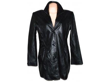 KOŽENÝ dámský černý měkký kabát PGI 44
