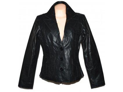 KOŽENÉ dámské černé sako Fashion