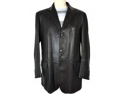 KOŽENÉ pánské černé sako Enrico Mandelli M/L