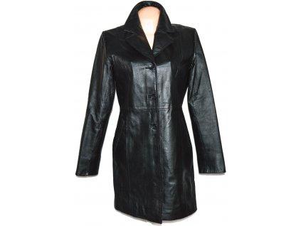 KOŽENÝ dámský černý kabát CALYPSO L