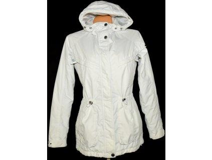 Dámská bílá bunda na zip s kapucí ALPINE PRO Salp