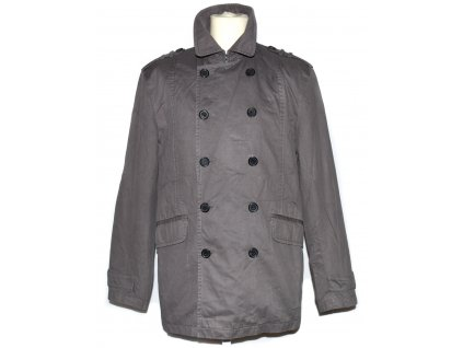 Pánský šedý dvouřadý kabát TED BAKER