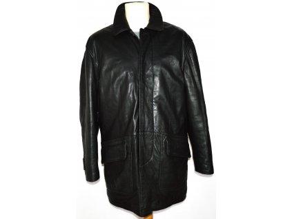 KOŽENÁ pánská měkká zateplená černá bunda CIRO CITTERIO  M