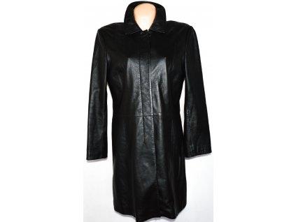KOŽENÝ dámský měkký černý kabát Marks&Spencer