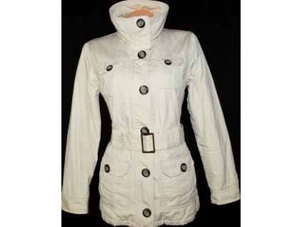 Bavlněný dámský béžový kabát s páskem Li