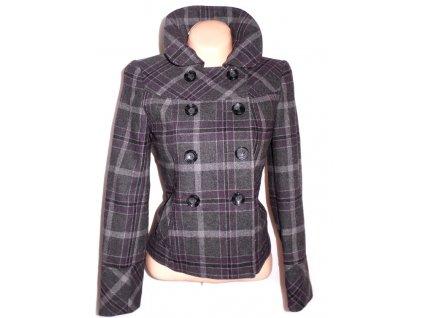 Vlněný dámský kostkovaný kabátek F&F