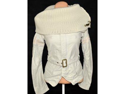 Bavlněná dámská bundat s límcem CRIMINAL S