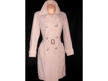 Bavlněný dámský béžový kabát s páskem M&Co 10