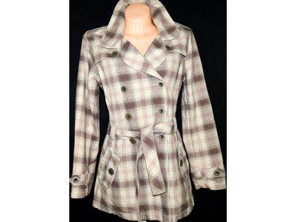 Bavlněný dámský kostkovaný kabát NEXT L
