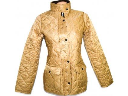 Dámská prošívaná bunda na zip, cvoky XL
