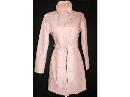 Bavlněný dámský hnědý kabát s páskem FWM M
