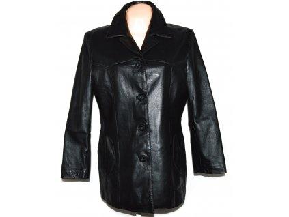 KOŽENÝ dámský černý měkký kabát DIFFEREENT 42