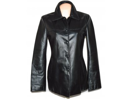 KOŽENÝ dámský černý měkký kabát Different M