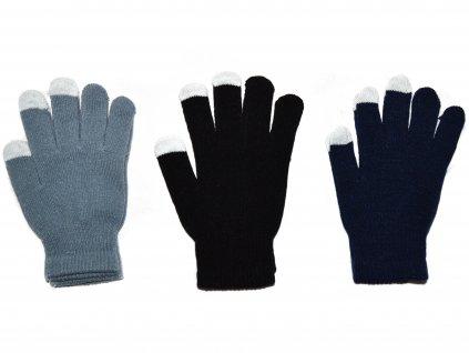 NOVÉ Dámské dotykové rukavice Klasik - růžové