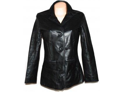 KOŽENÉ dámské černé měkké sako AMARANTO L